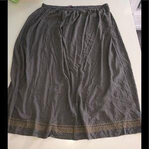 Tailissime gray maxi skirt cotton 30w gold plus